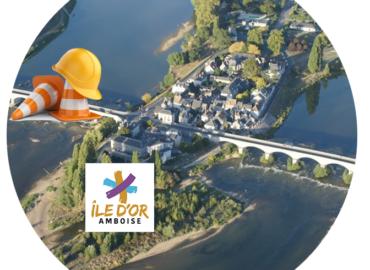 Travaux sur le pont du Maréchal Leclerc